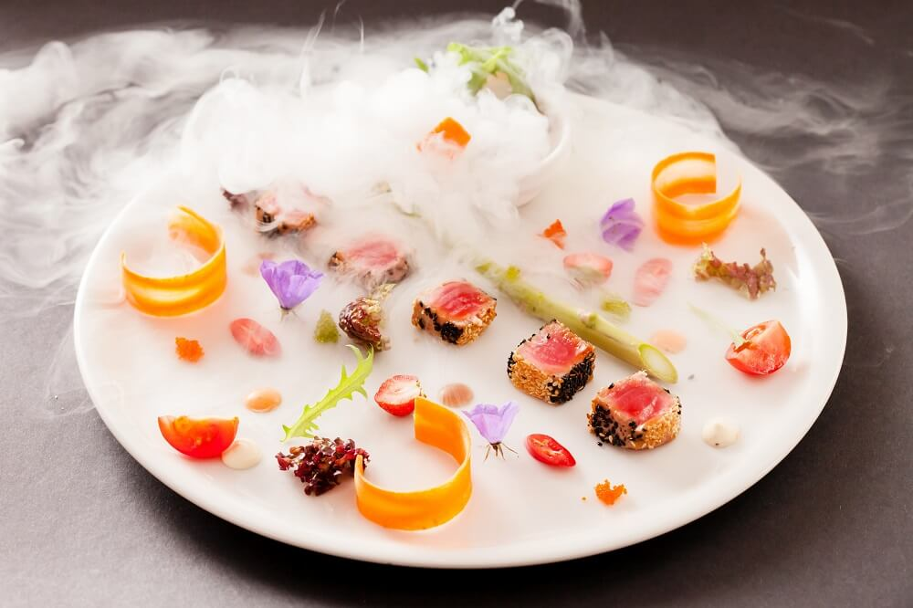 molecular gastronomy food science cuisine experimental chemical recipes dish different culinary plates latest